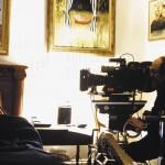 Nicole Kidman und Stanley Kubrick bei Dreharbeiten zu Eyes Wide Shut