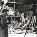 Frank Silvera und Stanley Kubrick bei Dreharbeiten zu Killer´s Kiss